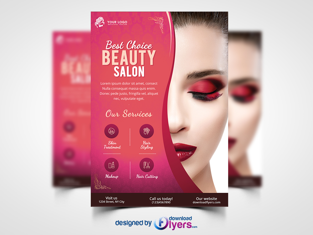 Beauty Salon Flyer Template Free Psd Flyer Psd