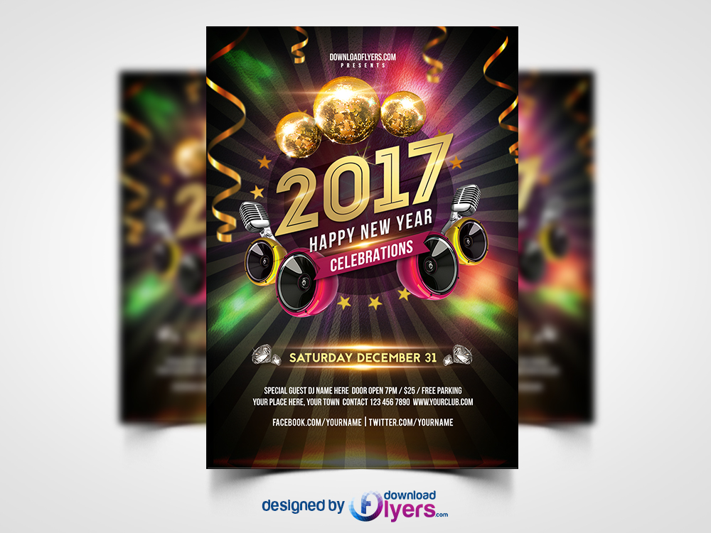 New year 2017 party flyer free psd flyer psd download new year 2017 party flyer free psd new years eve is definitely the greatest events of each year a free new year 2017 party flyer psd is designed saigontimesfo
