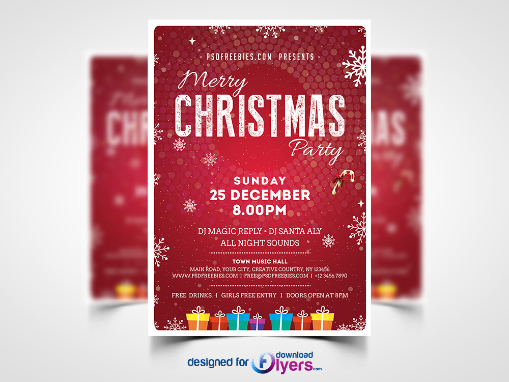 Christmas Party Flyer Template Psd Flyer Psd