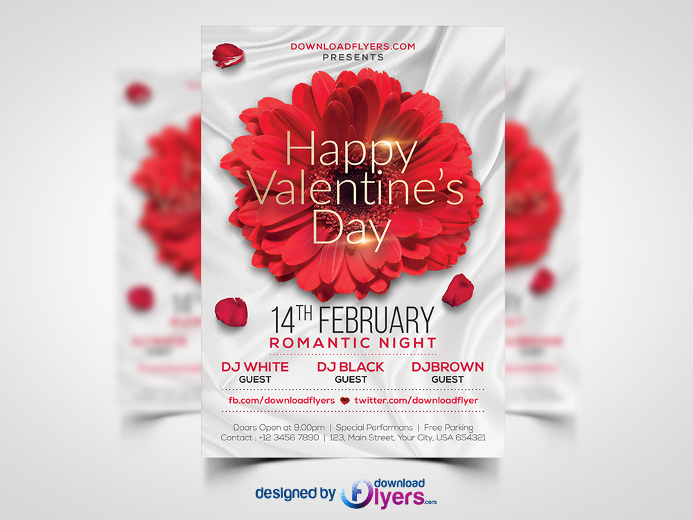Valentines Day Flyer Template Free Psd Flyer Psd