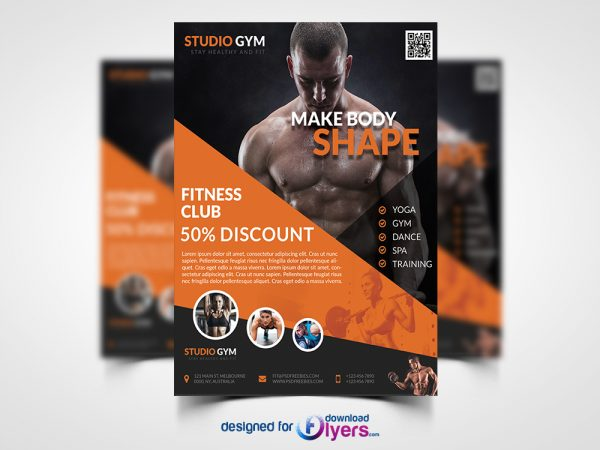 Health and Fitness Flyer PSD Bundle
