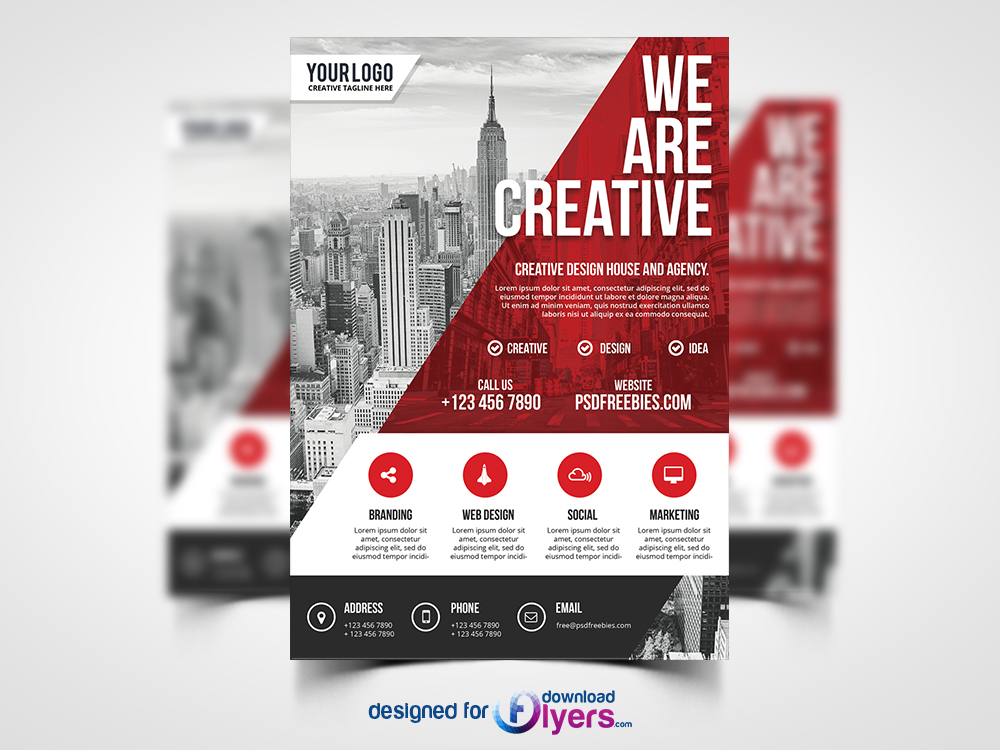Modern Business Agency Flyer PSD Template