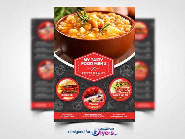 Restaurant Food Menu Flyer Free PSD
