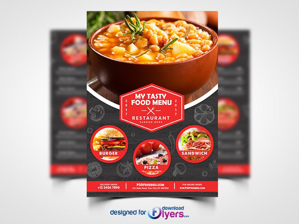 Restaurant Food Menu Flyer Free Psd Flyer Psd